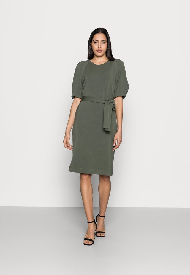 BECA DRESS - Jerseyjurk - beetle green
