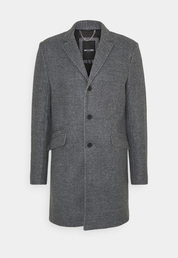 Only & Sons ONSJULIAN STAR COAT - Płaszcz wełniany /Płaszcz klasyczny - light grey melange/jasnoszary melanż Odzież Męska NDSX