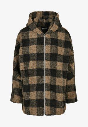 CHECK SHERPA - Winter jacket - softtaupe/black