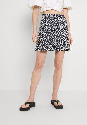 AURORA SKIRT - Mini skirt - dark blue/white