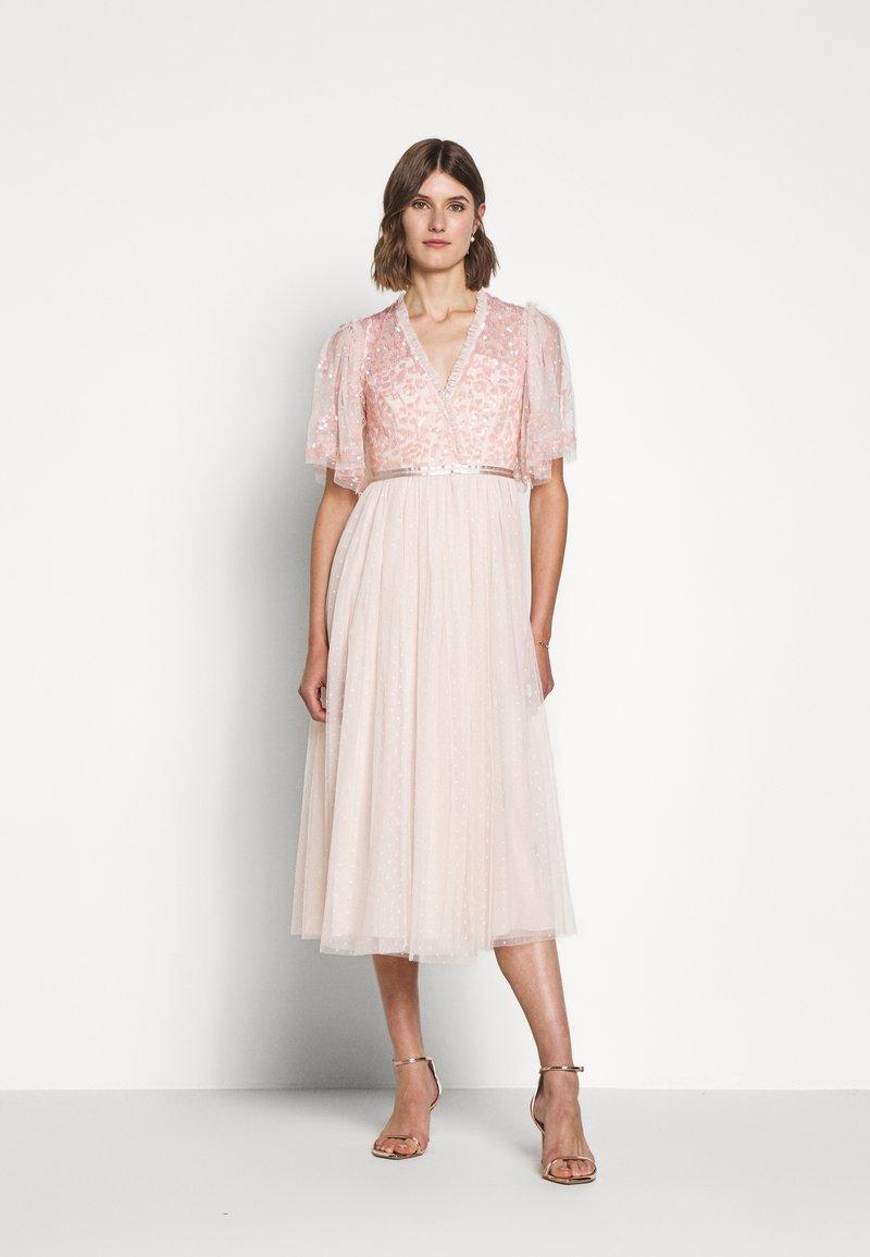 Needle & Thread - PATCHWORK BODICE BALLERINA DRESS - Koktejlové šaty/ šaty na párty - ballet slipper/pink