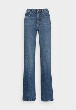 WIDE LEG - Flared Jeans - blue dark wash