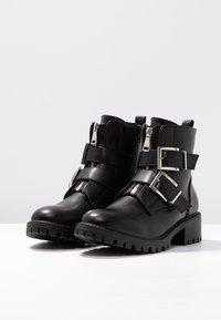 Even&Odd - Cowboy/biker ankle boot - black - 4