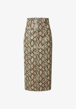GESINA - Pencil skirt - beige