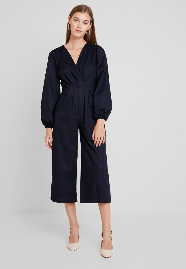 PLEATED WRAP - Jumpsuit - blue