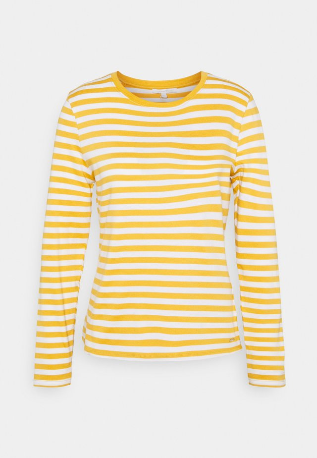 Long sleeved top - yellow/white