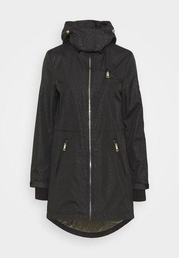 EMBOSSED ANORAK - Classic coat - black