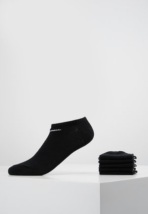 EVERYDAY LIGHTWEIGHT 6 PACK - Calcetines tobilleros - black/white
