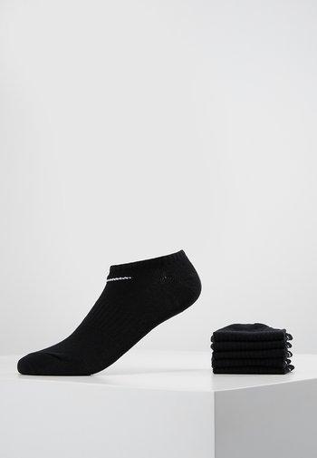 EVERYDAY LIGHTWEIGHT 6 PACK - Trainer socks - black/white