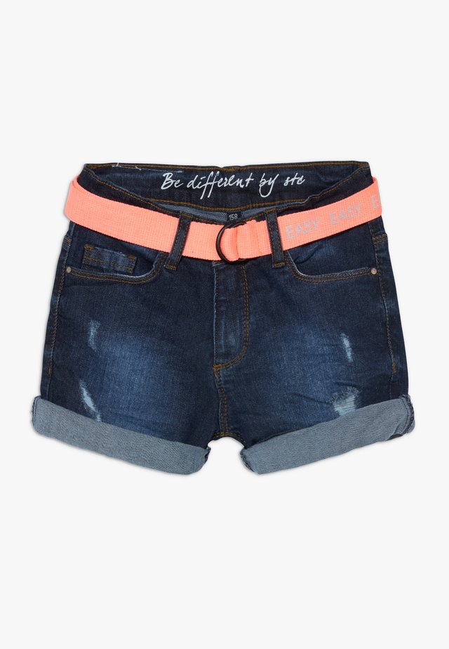 TEENAGER - Denim shorts - dark blue denim
