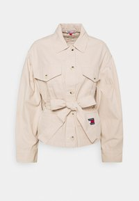Tommy Jeans - BELTED OVERSHIRT - Blouse - smooth stone - 5