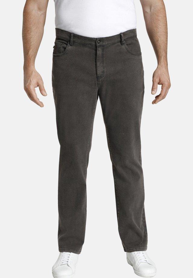 BARON VINCENT - Trousers - dunkelgrau melange