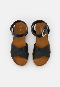 ONLY SHOES - ONLMAUVE WRAP  - Korkeakorkoiset sandaalit - black - 5