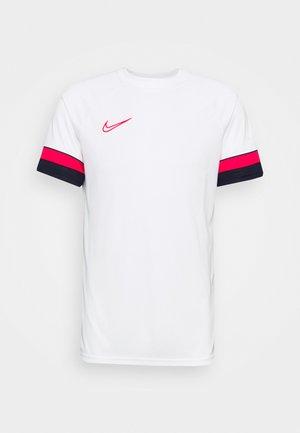 T-shirt print - white/black/bright crimson