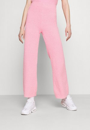 POPCORN WIDE LEG TROUSERS - Trousers - pink