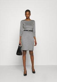 Anna Field - Shift dress - black/white - 1