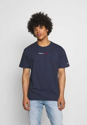 LINEAR LOGO TEE - T-shirt imprimé - twilight navy