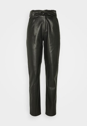 TALL BELTED TROUSER - Trousers - black