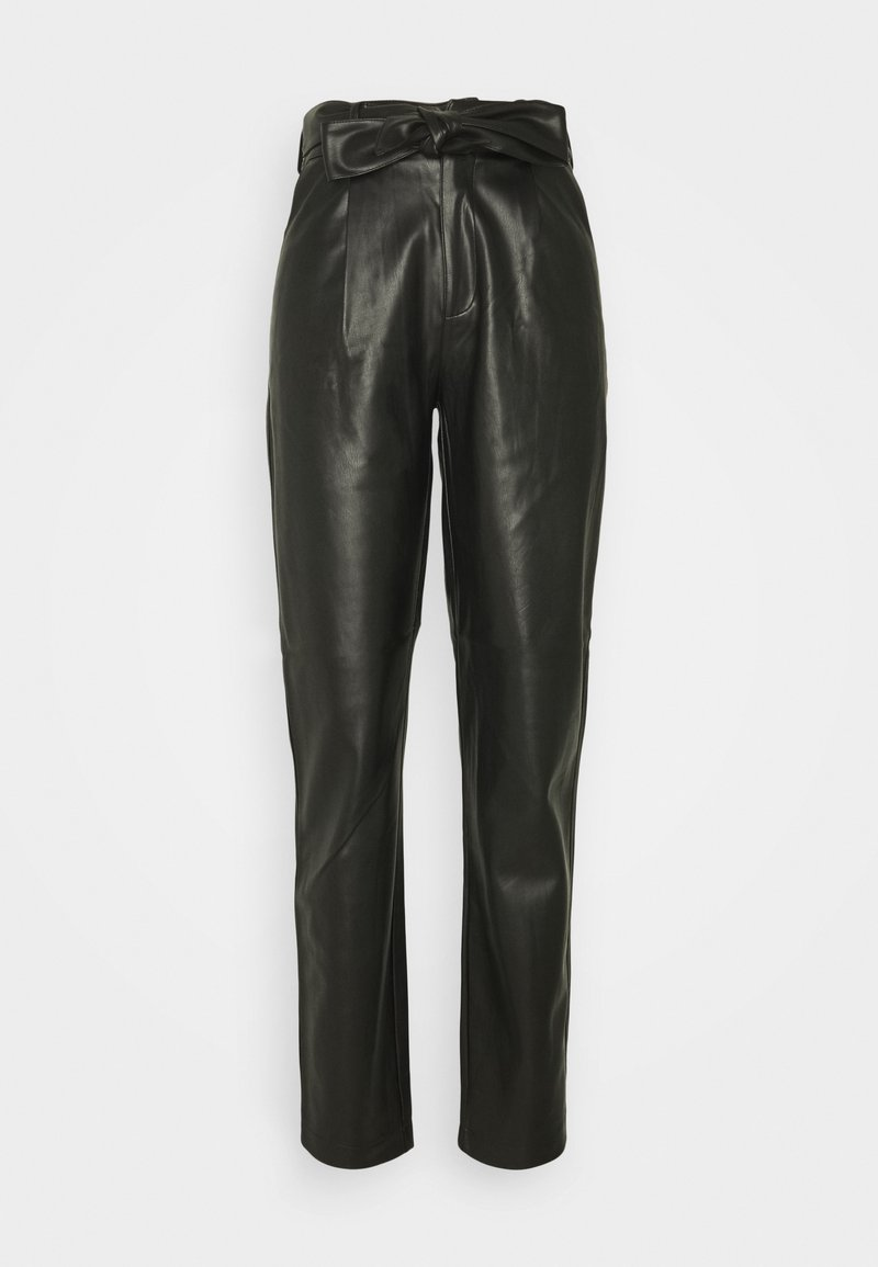 Dorothy Perkins Tall - TALL BELTED TROUSER - Trousers - black