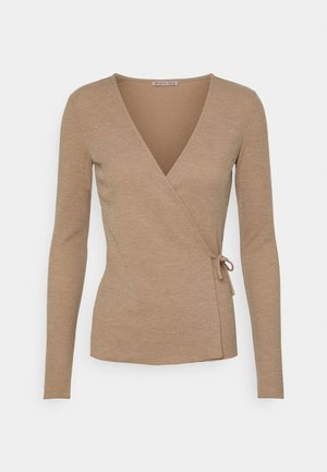 Long sleeved top - mottled beige
