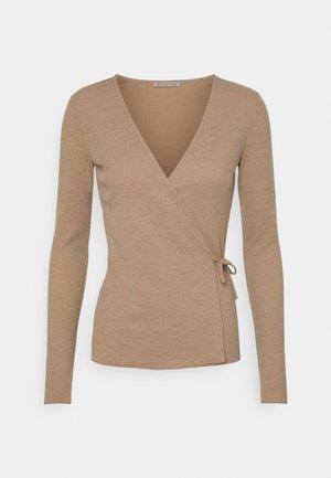 Bluzka z długim rękawem - mottled beige