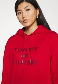 Tommy Hilfiger - TIARA HOODED DRESS - Day dress - primary red - 5