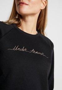 Under Armour - RECOVERY SCRIPT CREW - Mikina - black/blush beige - 3