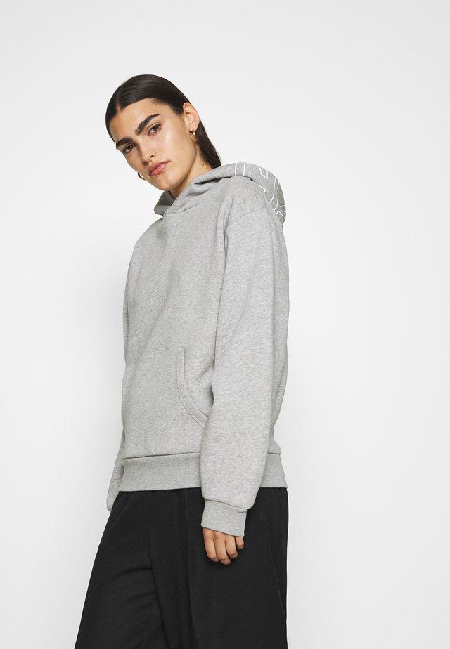 Kapuzenpullover - light grey melange