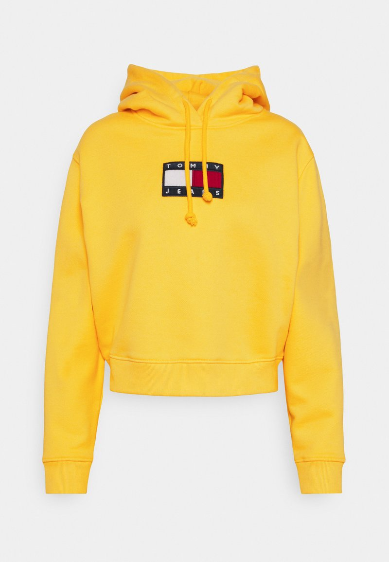 Tommy Jeans - FLAG HOODIE - Sweat à capuche - star fruit yellow