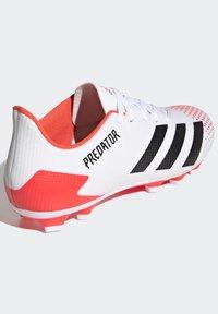 adidas Performance - PREDATOR 20.4 FXG - Moulded stud football boots - ftwwht/cblack/pop - 3
