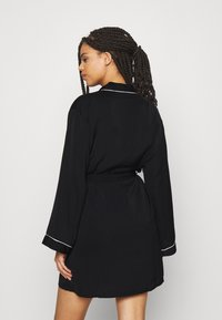 Anna Field - AMANDA DRESSING GOWN  - Badjas - black - 2