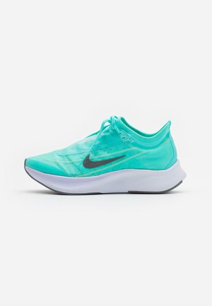 ZOOM FLY  - Neutral running shoes - aurora green/smoke grey/white/sky grey/hyper turquoise