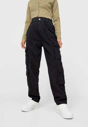 BAGGY FIT - Pantalon cargo - black