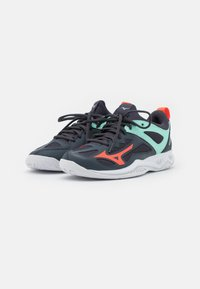 Mizuno - GHOST SHADOW - Handball shoes - india ink/fiery coral/ice green - 1