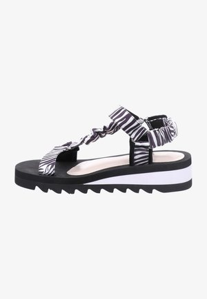 Sandalen met plateauzool - weiss multi