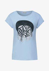Street One - MIT PARTPRINT - Print T-shirt - blau - 3