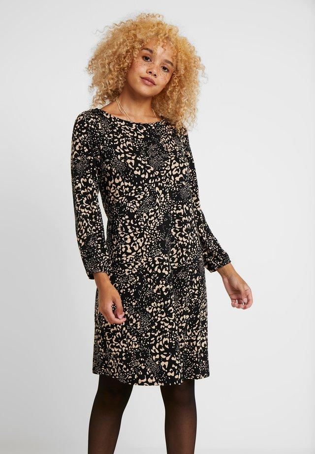 ANIMAL SWING DRESS - Jersey dress - black