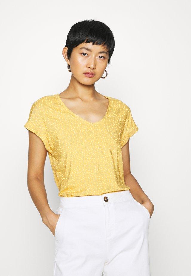 PRINTED SPORTY BLOUSE - Bluzka - yellow/white