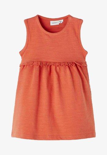 Day dress - apricot brandy
