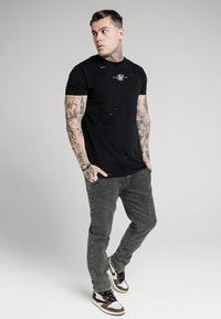 SIKSILK - RAW LOOSE FIT  - Jeans baggy - acid black - 1