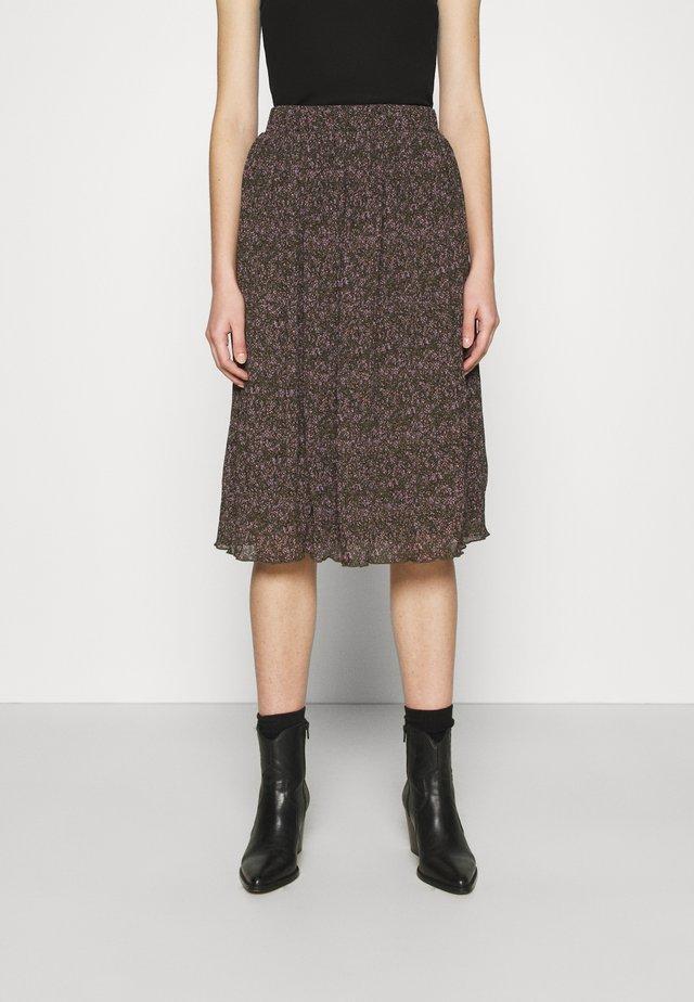 VMAPOLLO CALF SKIRT  - A-line skirt - beech