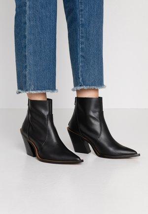 HELENA - High heeled ankle boots - black