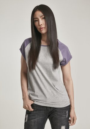Print T-shirt - grey/dustypurple