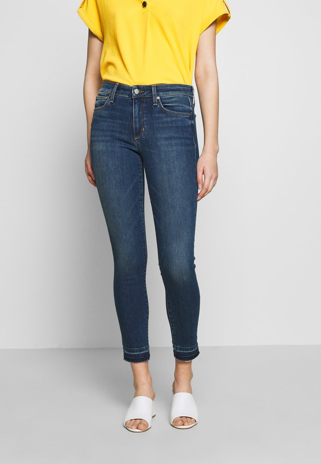 ICON CROP SINGLE CUFF - Skinny-Farkut - darkblue denim