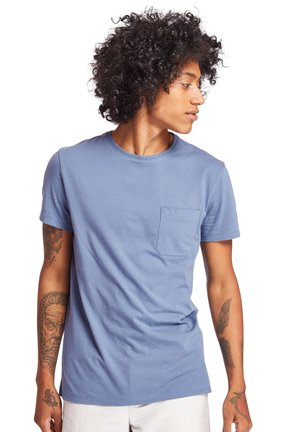 DUNSTAN RIVER POCKET SLIM TEE - T-shirt basic - blue horizon