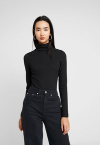 Zign - LANGARM BODYSUIT BASIC - Maglietta a manica lunga - black - 0
