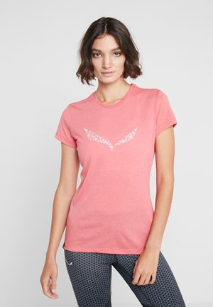 SOLID TEE - T-shirt imprimé - rouge red melange