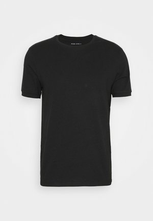 LOUNGE TEE - Pyžamový top - black/dark blue