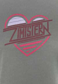Zimtstern - HEARTZ TEE - Triko spotiskem - gun metal/windsor wine - 5