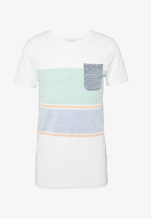 TEE WITH INSIDE PRINTED STRIPE - Printtipaita - white